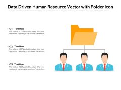 Data Driven Human Resource Vector With Folder Icon Ppt PowerPoint Presentation Professional Vector PDF