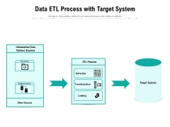 Data ETL Process With Target System Ppt PowerPoint Presentation File Pictures PDF