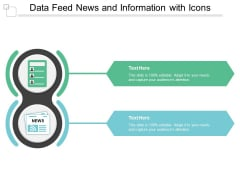 Data Feed News And Information With Icons Ppt PowerPoint Presentation Pictures Master Slide
