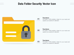 Data Folder Security Vector Icon Ppt PowerPoint Presentation File Rules PDF