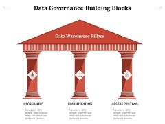 Data Governance Building Blocks Ppt PowerPoint Presentation Gallery Inspiration PDF