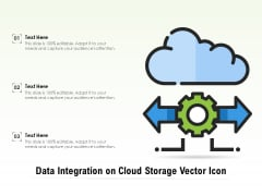Data Integration On Cloud Storage Vector Icon Ppt PowerPoint Presentation File Sample PDF