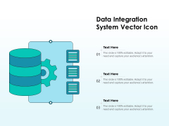 Data Integration System Vector Icon Ppt PowerPoint Presentation Ideas Gallery PDF
