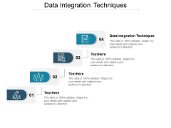 Data Integration Techniques Ppt PowerPoint Presentation Summary Cpb