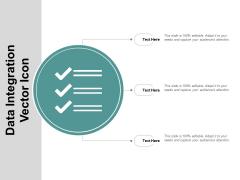 Data Integration Vector Icon Ppt Powerpoint Presentation Slides Maker