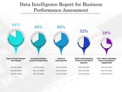 data intelligence report for business performance assessment ppt powerpoint presentation professional smartart pdf