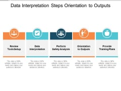 Data Interpretation Steps Orientation To Outputs Ppt PowerPoint Presentation Slides Maker