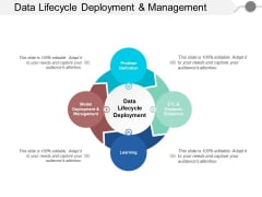 Data Lifecycle Deployment And Management Ppt PowerPoint Presentation File Formats