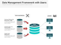 Data Management Framework With Users Ppt PowerPoint Presentation File Slides PDF
