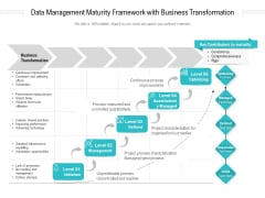 Data Management Maturity Framework With Business Transformation Ppt PowerPoint Presentation Gallery Designs PDF