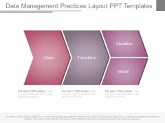Data Management Practices Layout Ppt Templates