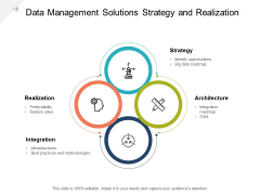 Data Management Solutions Strategy And Realization Ppt PowerPoint Presentation Pictures Show Cpb