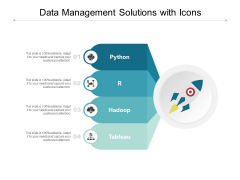 Data Management Solutions With Icons Ppt PowerPoint Presentation Icon Brochure