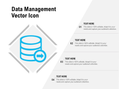 Data Management Vector Icon Ppt PowerPoint Presentation Gallery Guide PDF
