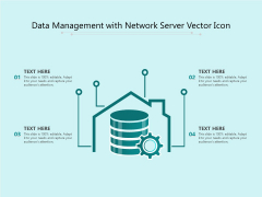 Data Management With Network Server Vector Icon Ppt PowerPoint Presentation File Images PDF