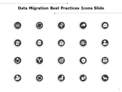 Data Migration Best Practices Icons Slide Target Ppt PowerPoint Presentation Model Shapes