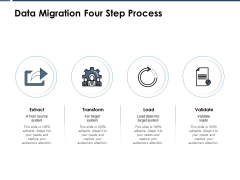 Data Migration Four Step Process Ppt PowerPoint Presentation Show Designs Download