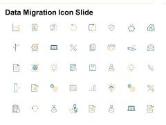 Data Migration Icon Slide Ppt PowerPoint Presentation Portfolio Vector