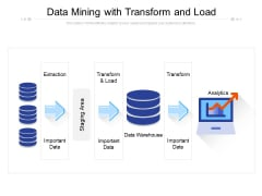 Data Mining With Transform And Load Ppt PowerPoint Presentation Model Pictures