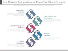 Data Modeling And Maintenance Powerpoint Slide Information