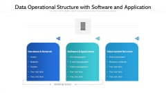 Data Operational Structure With Software And Application Ppt PowerPoint Presentation File Gallery PDF