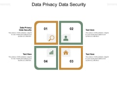 Data Privacy Data Security Ppt PowerPoint Presentation Ideas Sample Cpb Pdf
