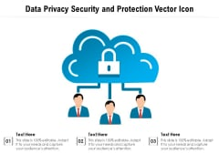 Data Privacy Security And Protection Vector Icon Ppt PowerPoint Presentation File Graphic Tips PDF