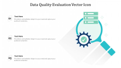 Data Quality Evaluation Vector Icon Ppt PowerPoint Presentation File Example PDF