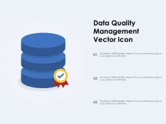 Data Quality Management Vector Icon Ppt PowerPoint Presentation File Clipart PDF