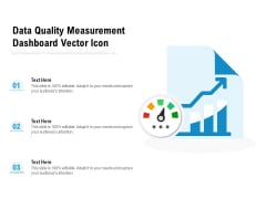 Data Quality Measurement Dashboard Vector Icon Ppt PowerPoint Presentation Slides Designs Download PDF