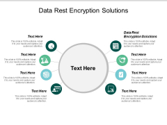 Data Rest Encryption Solutions Ppt PowerPoint Presentation Gallery Rules Cpb
