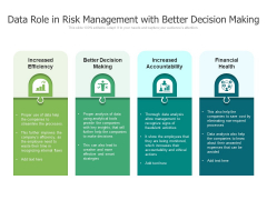 Data Role In Risk Management With Better Decision Making Ppt PowerPoint Presentation Professional Images PDF