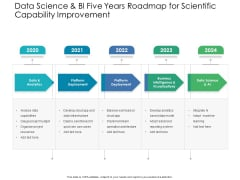 Data Science And BI Five Years Roadmap For Scientific Capability Improvement Formats