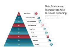 Data Science And Management With Business Reporting Ppt PowerPoint Presentation Icon Styles PDF