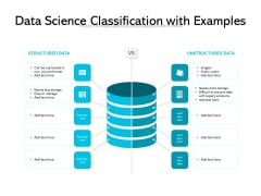 Data Science Classification With Examples Ppt PowerPoint Presentation Professional Show PDF