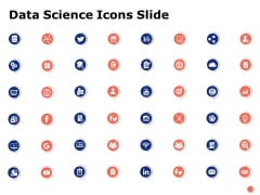 Data Science Icons Slide Checklist Ppt PowerPoint Presentation Information