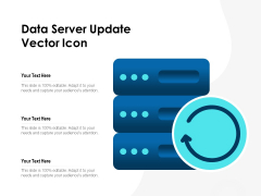 Data Server Update Vector Icon Ppt PowerPoint Presentation Layouts Microsoft PDF