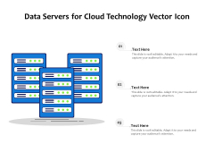 Data Servers For Cloud Technology Vector Icon Ppt PowerPoint Presentation File Inspiration PDF