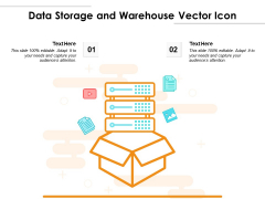 Data Storage And Warehouse Vector Icon Ppt PowerPoint Presentation File Graphics Design PDF