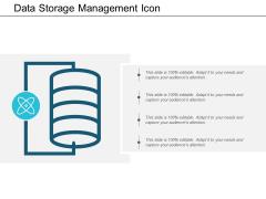 Data Storage Management Icon Ppt PowerPoint Presentation Ideas Files