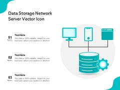 Data Storage Network Server Vector Icon Ppt PowerPoint Presentation Gallery Graphics PDF