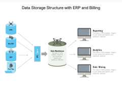 Data Storage Structure With ERP And Billing Ppt PowerPoint Presentation Gallery Outline PDF