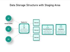 Data Storage Structure With Staging Area Ppt PowerPoint Presentation Icon Portfolio PDF