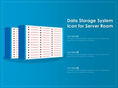 Data Storage System Icon For Server Room Ppt PowerPoint Presentation File Portfolio PDF