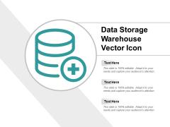Data Storage Warehouse Vector Icon Ppt PowerPoint Presentation Portfolio Guidelines