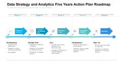 Data Strategy And Analytics Five Years Action Plan Roadmap Graphics