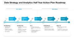 Data Strategy And Analytics Half Year Action Plan Roadmap Clipart