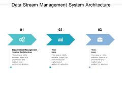 Data Stream Management System Architecture Ppt PowerPoint Presentation Model Design Inspiration Cpb Pdf