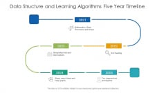 Data Structure And Learning Algorithms Five Year Timeline Icons