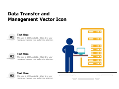 Data Transfer And Management Vector Icon Ppt PowerPoint Presentation Gallery Display PDF